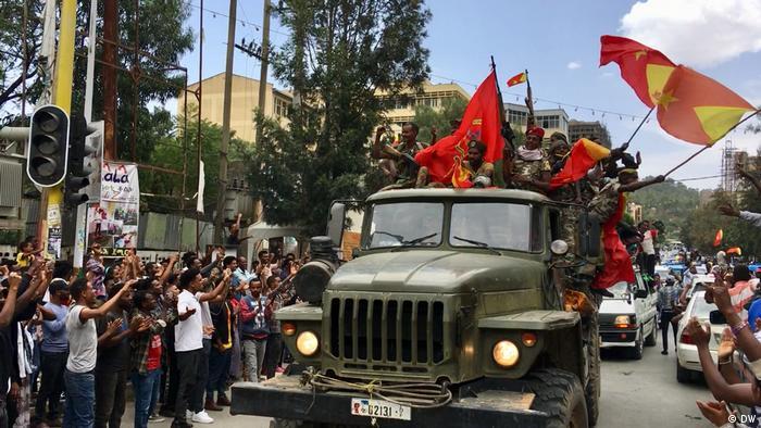 Äthiopien |Jubel beim Einmarsch der TDF in Mekelle