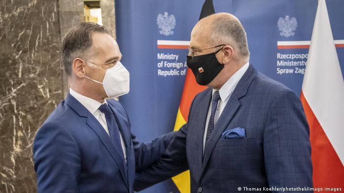 Polen I Heiko Maas trifft in Warschau den Aussenminister von Polen, Zbigniew Rau