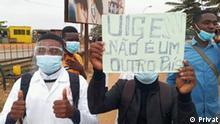 01.07.2021 Protest der Lehrer in Uige, Angola. Demonstration von Lehrern in Uige unterdrückt.