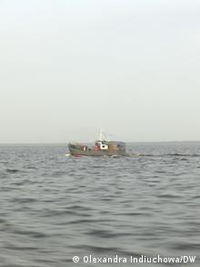 Рыбацкая лодка на Киевском море