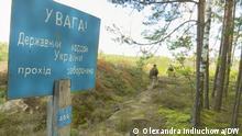 Auf den Bildern ist das belarussisch-ukrainische Grenzgebiet abgebildet. Ukrainische Grenzschützer.