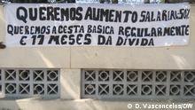 Streik für höhere Löhne in Caminho de Ferro de Benguela (CFB) am 1. Juli 2021