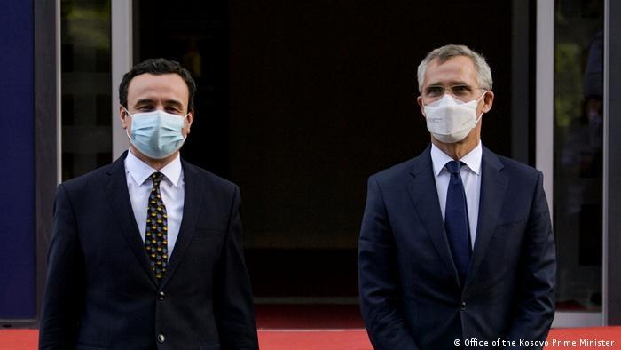 Kosovo Besuch des NATO-Generalsekretärs Jens Stoltenberg