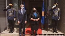 01.07.2021 +++NATO Secretary General Jens Stoltenberg in meeting with Kosovo President Vjosa Osmani