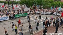 Teilnehmer der Protestaktion. 2020 Foto: DW-Korrespondent Ewgenij Wokul