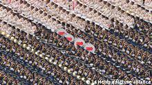 Eine Militärkapelle spielt während einer Zeremonie auf dem Platz des Himmlischen Friedens (Tian'anmen-Platz) anlässlich des 100. Jubiläums der Kommunistischen Partei Chinas. +++ dpa-Bildfunk +++
