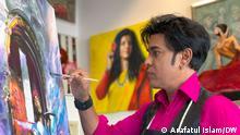 Bangladeshi artist Onil Hossain lives in Bremen.