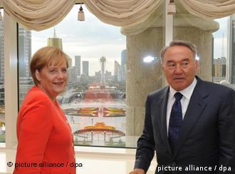 Ангела Меркель и Нурсултан Назарбаев