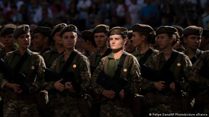 यूक्रेन की सेना में महिला सैनिक