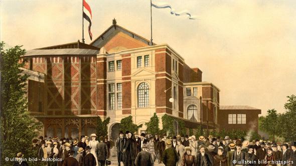 Deutschland Geschichte Bayreuth vor dem Festspielhaus 1897 Flash-Galerie