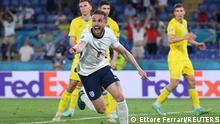 Soccer Football - Euro 2020 - Quarter Final - Ukraine v England - Stadio Olimpico, Rome, Italy - July 3, 2021 England's Jordan Henderson celebrates scoring their fourth goal Pool via REUTERS/Ettore Ferrari