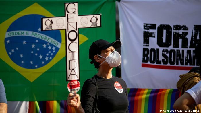 Protesta en Sao Paulo.