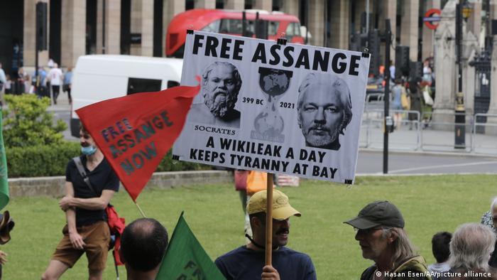 Anlässlich des 50. Geburtstages von Assange am 3. Juli fordern Unterstützer in London seine Freilassung