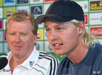 Steve McClaren and Simon Kjaer