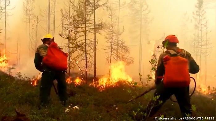 Тушение лесных пожаров в Якутии (2020 год)