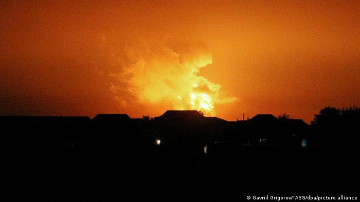 Aserbaidschan Explosion in einem Ölförderfeld im Kaspischen Meer