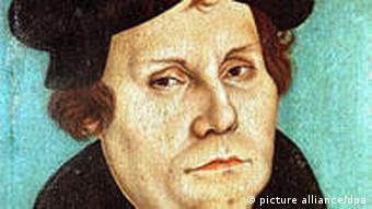 Портрет Мартина Лютера кисти Лукаса Кранаха
