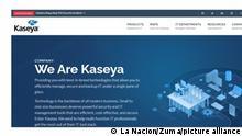 July 4, 2021: Con sede en Miami, Kaseya, que afirma contar con más de 40.000 clientes, ofrece herramientas de TI a pequeñas y medianas empresas, incluyendo el software VSA para administrar la red de servidores, computadoras e impresoras desde una sola fuente. Imagen: captura del sitio web de Kaseya, donde la compañía informó sobre el ''incidente de seguridad' (Credit Image: © La Nacion via ZUMA Press