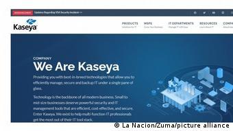 Сайт американской фирмы Kaseya, которую атаковали хакеры