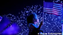 A child watches the Macy's Fourth of July fireworks in New York City, New York, U.S., July 4, 2021. REUTERS/Andrew Kelly TPX IMAGES OF THE DAY