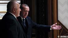 Der türkische Präsident Erdogan mit Boyko Borissov, Premierminsiter Anfang März 2021 © BGNES