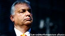 Viktor Orban, the Prime Minister of Hungary, is photographed during the Visegrad Group Heads of State meeting in Katowice, Poland on June 30, 2021. The meeting concluded V4 Poland's presidency and passed it to Hungary. (Photo by Beata Zawrzel/NurPhoto)