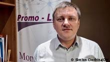 Nicolae Panfil, Programmdirektor bei der Gesellschaft für Demokratie und Menschenrechte Promo-LEX aus der Republik Moldau. Foto: Simion Ciochina/DW am 02/07/2021
