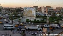 A general view of Sadrain Square, in the Sadr City district of Baghdad, Iraq June 20, 2021. Picture taken June 20, 2021. To match Special Report IRAQ-CLERIC/ REUTERS/Ahmed Saad