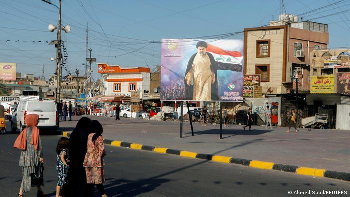 Irak. 2021. Portretul clericului şiit Moqtada al-Sadr
