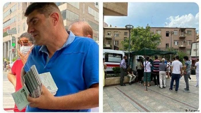 حالا گزارشها و تصاویری از سفر ایرانیان به ارمنستان برای تزریق واکسن منتشر میشوند. مردم با اطلاع از واکسیناسیون رایگان در این کشور، بلیت پروازها و اتوبوسهای ایروان را تا چند هفته آینده خریداری کردهاند.