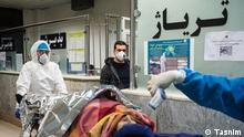 5. Corona- Welle rollt durch Iran. Triage -Abteilung im Krankenhaus.