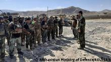 FILE PHOTO: Afghan commandos arrive to reinforce security forces in Faizabad, capital of Badakhshan province, after the Taliban captured neighbourhood districts of Badakhshan recently, July 4, 2021. Afghanistan Ministry of Defence//Handout via REUTERS/File Photo