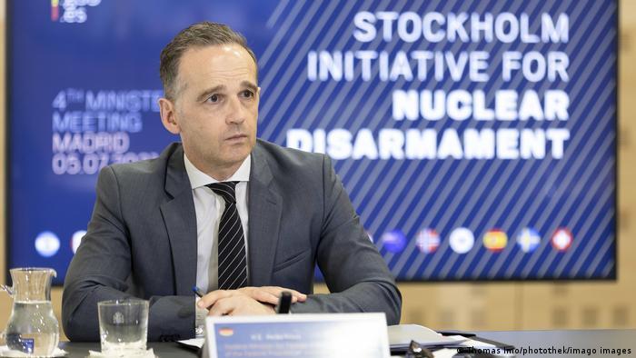 Spanien Madrid   Ministertreffen der Stockholm-Initiative fuer nukleare Abrüstung   Heiko Maas