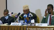 Press conference of Political parties from Afar region in Addis Ababa- 05.07.2021 - to give a press briefing regarding the election Autor/Copyright: Yohannes Geberegziabher DW Korri Schlagworte: Ethiopia, Addis Ababa, Äthiopien, Afar