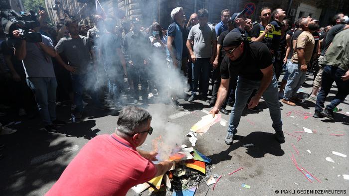 Georgien Tiflis Ausschreitungen vor Pride-Parade
