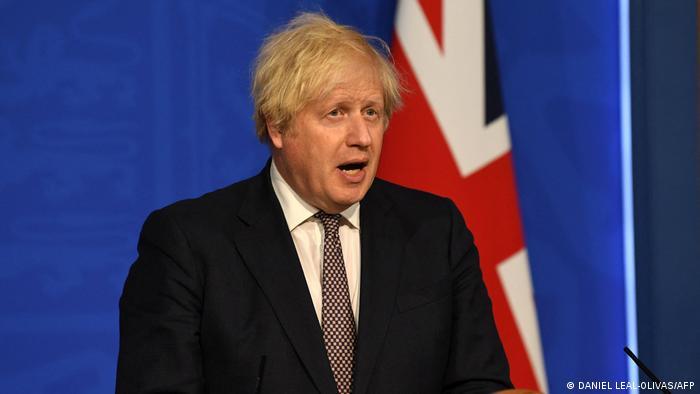 Großbritanniens Premierminister Boris Johnson über Lockerungen der Corona-Beschränkungen