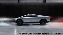 Tesla CEO Elon Musk debuted the company's long-awaited pickup truck, dubbed Cybertruck, on November 21, 2019, at an event in Los Angeles. Designed to have the utility of a truck and the performance of a sports car, Tesla will offer the Cybertruck in three variants: Single Motor Rear-Wheel Drive, Dual Motor All-Wheel Drive, and Tri-Motor All-Wheel Drive. Photo courtesy Tesla/UPI Photo via Newscom picture alliance