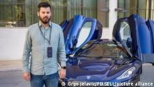Mate Rimac gave a statement to the media regarding his new electric car Nevera. Nevera is a serial car, we discovered the final version of that car, which is now starting production and delivery to customers. Homologation will be completed in the next few months. What is interesting about this car is that it pushes the boundaries - said Rimac. It is the most powerful production car ever produced, with 1,900 horsepower, under 2 seconds from 0 to 100, under 9 seconds per quarter mile, making it the fastest accelerating car ever on the road, Rimac says. At the press conference, Rimac also commented on the news of a video in which a driver drives his Nevera on the highway near Dubrovnik at a speed of 232 km / h in an area where the limit is 90. The driver of the car who was at Nevera's presentation was found after he published a video of the ride. The driver admitted the offense., in Dubrovnik, Croatia, on June 03, 2021. Photo: Grgo Jelavic/PIXSELL