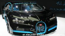 Volkswagen could sell Bugatti to electric car startup Rimac,a Bugatti Chiron at the Bugatti booth at the IAA 2017 in Frankfurt,14.09.2017, exhibition center,file photo,symbolic photo Juan Pablo Montoya set a speed record with the Bugatti Chiron in 2017 - from 0 to 400 km / h in 42 seconds. Bugatti was an automobile manufacturer in Molsheim in Alsace. Ettore Bugatti was the founder. Production ran from 1909 to 1963. The vehicles manufactured by Bugatti were among the most successful racing cars as well as the finest and best sports cars and limousines of their time and made the brand a legend.