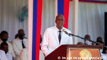 Haitian President Jovenel Moise delivers a speech during the official Flag Day celebration ceremony in Port-au-Prince, Haiti, 18 May 2021. Moise called on Tuesday all the forces of the country to dialogue for the signing of a 25-year political agreement, in a context marked by the worsening of the Government crisis and the climate of insecurity in the Caribbean nation. Moise calls for dialogue to sign a 25-year political agreement in Haiti ACHTUNG: NUR REDAKTIONELLE NUTZUNG PUBLICATIONxINxGERxSUIxAUTxONLY Copyright: xJEANxMARCxHERVExABELARDx AME8648 20210518-637569710177008387
