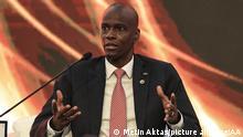 ANTALYA, TURKEY - JUNE 18: President of Haiti Jovonel Moise attends Leaders Panel within Antalya Diplomacy Forum at NEST International Convention Center in Antalya, Turkey on June 18, 2021. Metin Aktas / Anadolu Agency