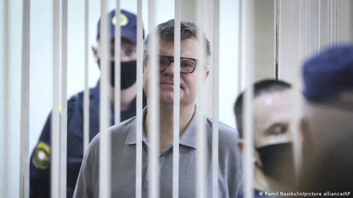 Виктор Бабарико в зале суда в Минске