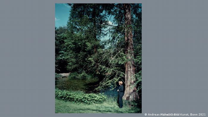 Angela Merkel di bawah pohon