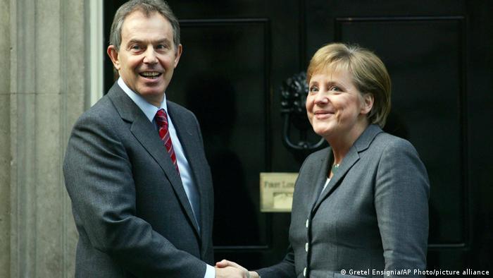 Großbritannien | Antrittsbesuch Angela Merkel bei Tony Blair