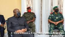 2. April 2021 Besuchs des kongolesischen Präsidenten Félix Tshisekedi in vulkanologischen Observatorium von Goma (OVG).