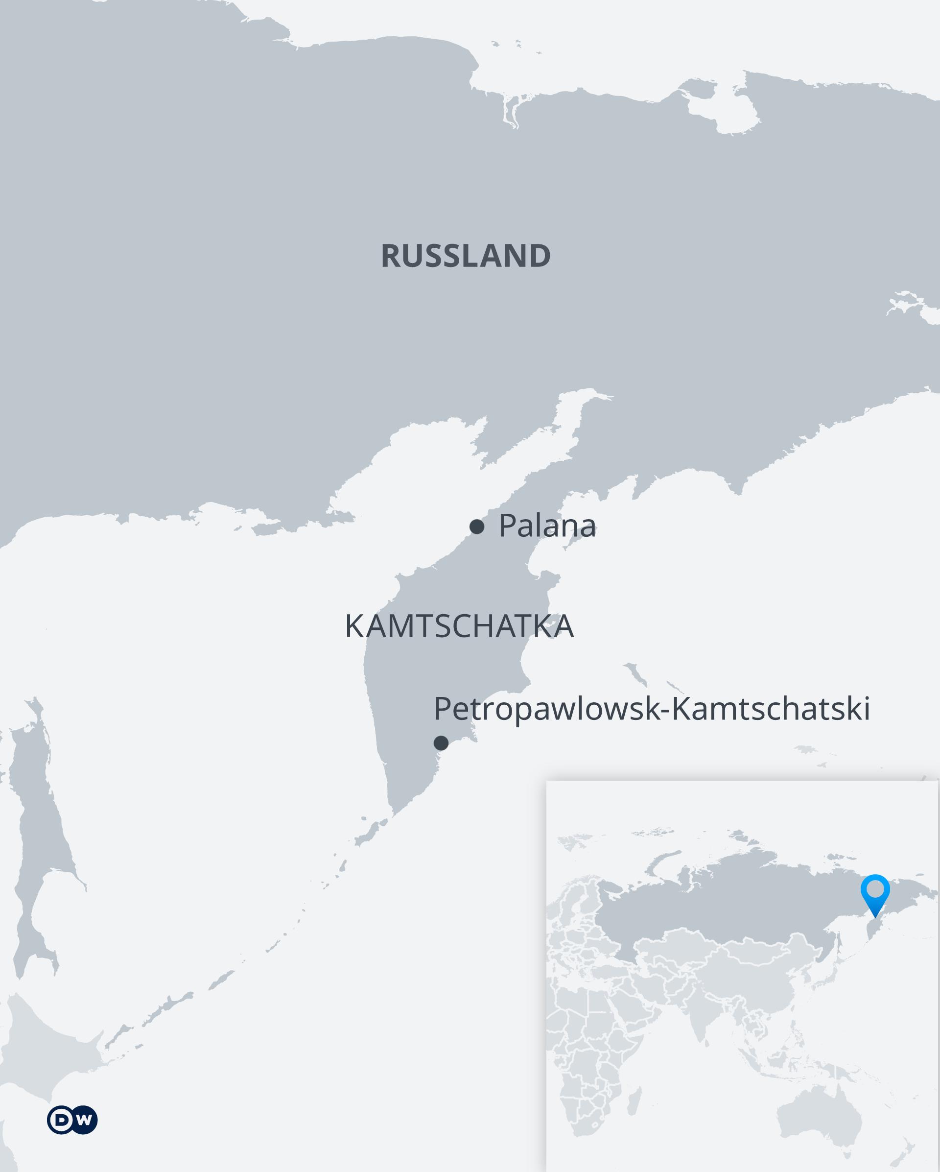 Karte Petropawlowsk-Kamtschatski DE
