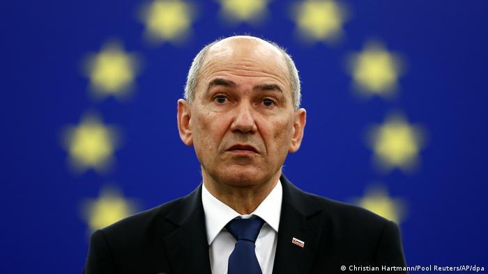 Janez Jansa, primer ministro de Eslovenia, que asume la presidencia rotativa del Consejo Europeo.