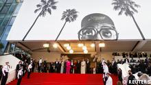 The 74th Cannes Film Festival - Opening ceremony and screening of the film Annette in competition - Red Carpet arrivals - Cannes, France, July 6, 2021. Jury President of the 74th Cannes Film Festival Spike Lee and Jury members Mati Diop, Jessica Hausner, Melanie Laurent, Maggie Gyllenhaal, Mylene Farmer, Tahar Rahim, Song Kang-ho and Kleber Mendonca Filhor pose. REUTERS/Eric Gaillard TPX IMAGES OF THE DAY