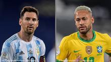 Messi y Neymar serán protagonistas de la final Argentina-Brasil en la Copa América
