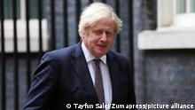 July 5, 2021, London, England, United Kingdom: UK Prime Minister BORIS JOHNSON walks in to 9 Downing Street ahead of a press conference where he is expected to announce lifting of covid restrictions such as mask wearing and social distancing from 19th of July. (Credit Image: © Tayfun Salci/ZUMA Wire